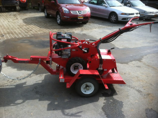 Hydraulic Tiller on Trailer